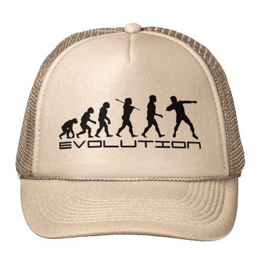 Shot Put Track and Field Sport Evolution Art Hats