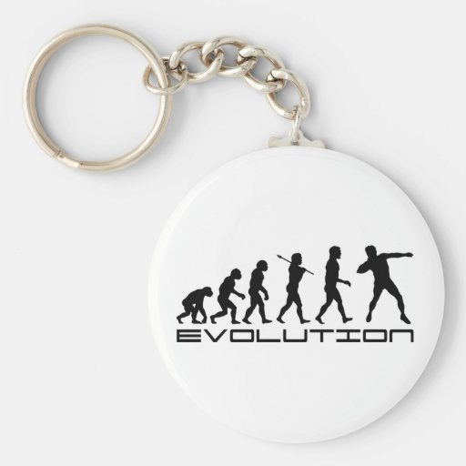 Shot Put Track and Field Sport Evolution Art Key Chains
