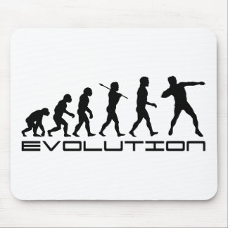 Shot Put Track and Field Sport Evolution Art Mousepad