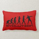 Shot Put Track and Field Sport Evolution Art Pillow