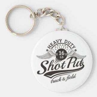 shot put wings keychain