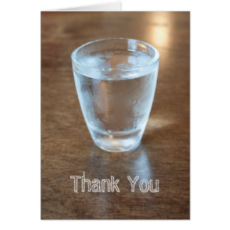 Shotglass thank you card