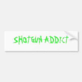 SHOTGUN ADDICT BUMPER STICKER