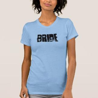 SHOTGUN Bride Tank (Black on Blue)
