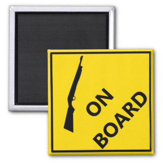 Shotgun On Board 2 Inch Square Magnet