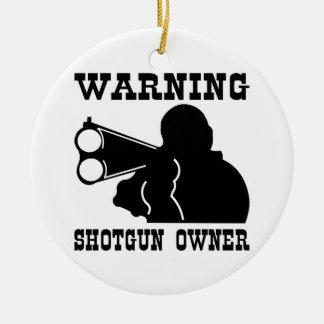 Shotgun Owner Ceramic Ornament