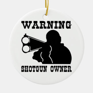 Shotgun Owner Double-Sided Ceramic Round Christmas Ornament