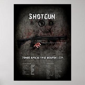 Shotgun Poster - Zombie Apocalypse Defense QC