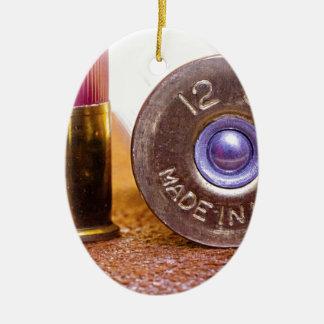Shotgun Shell Ceramic Ornament