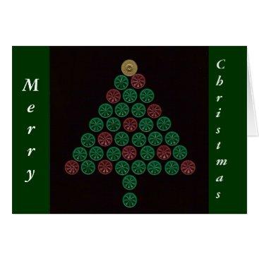 Christmas Themed Shotgun Shell Christmas Tree Card