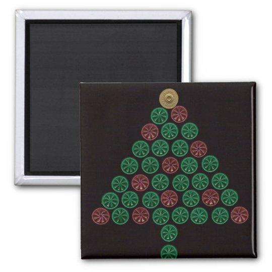 Shotgun Shell Christmas Tree Magnet