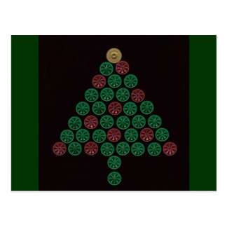 Shotgun Shell Christmas Tree Postcard