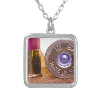 Shotgun Shell Silver Plated Necklace