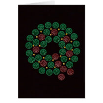 Shotgun Shell Wreath Card