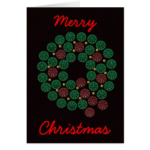 Shotgun Shell Wreath Greeting Card