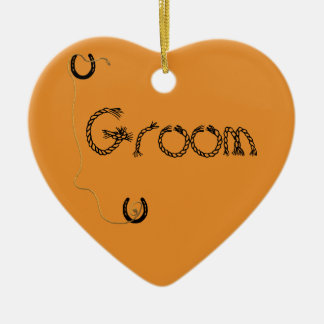 Shotgun Wedding Ceramic Ornament