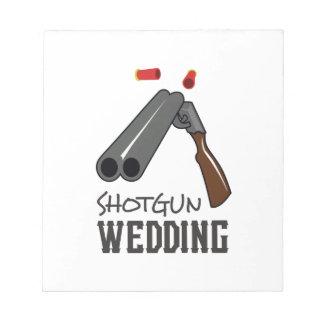 SHOTGUN WEDDING MEMO NOTE PADS