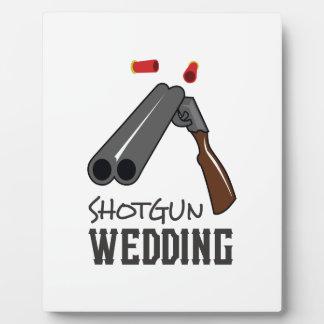 SHOTGUN WEDDING PLAQUE