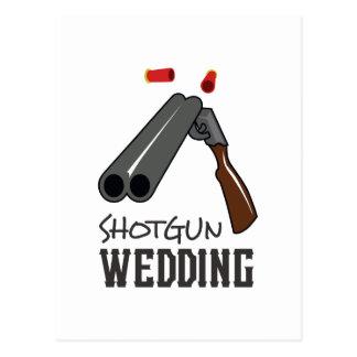 SHOTGUN WEDDING POSTCARD