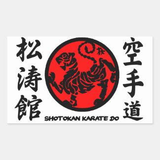 Shotokan adhesive Karate-pity Rectangular Sticker