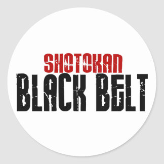 Shotokan Black Belt Karate Classic Round Sticker