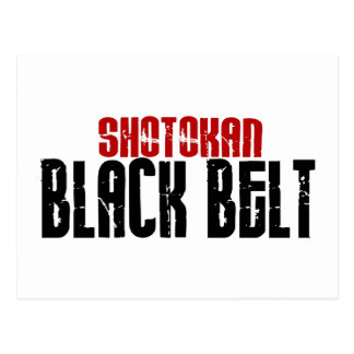 Shotokan Black Belt Karate Post Card