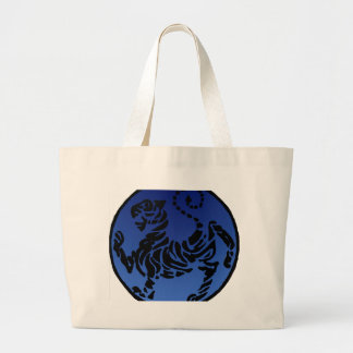 Shotokan Black & Blue Tiger Large Tote Bag