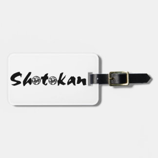 Shotokan él etiquetas bolsa