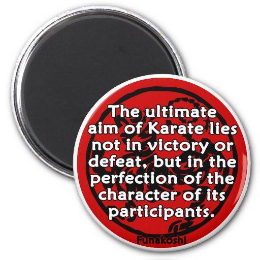Shotokan - el último objetivo imán redondo 5 cm