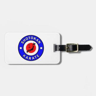 Shotokan Karate Luggage Tag