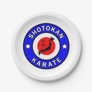 Shotokan Karate Paper Plate