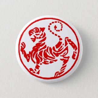Shotokan Red Rising Sun Tiger Japanese Karate Pinback Button