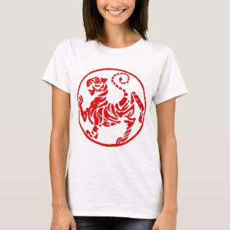 Shotokan Red Rising Sun Tiger Japanese Karate T-Shirt