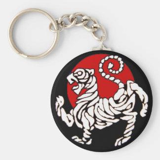 Shotokan Rising Sun Basic Round Button Keychain