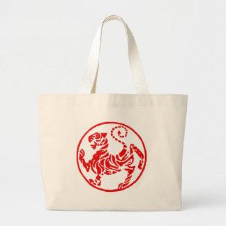 Shotokan Rising Sun Tiger Japanese - Karate Japan Large Tote Bag