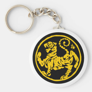 Shotokan Tiger Basic Round Button Keychain