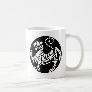SHOTOKAN TIGER BLACK AND WHITE COFFEE MUG