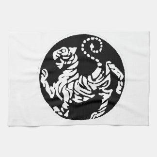 SHOTOKAN TIGER BLACK AND WHITE HAND TOWEL