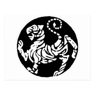 SHOTOKAN TIGER BLACK AND WHITE POST CARD