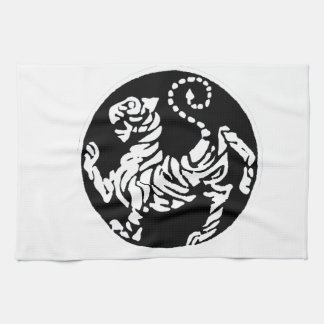 SHOTOKAN TIGER BLACK AND WHITE TOWELS
