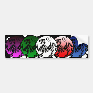 SHOTOKAN TIGER Stunning Multicolor Bumper Sticker