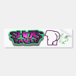 Shots Fired bumper sticker
