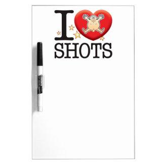 Shots Love Man Dry-Erase Board