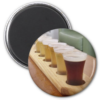 Shots Of Beer 2 Inch Round Magnet