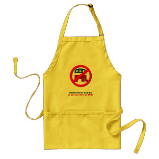 Should brave men die so you can drive an SUV Adult Apron
