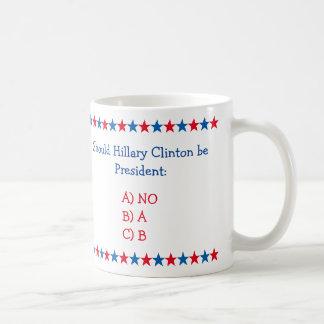 Should Hillary Clinton Be President 2016 Funny Mug