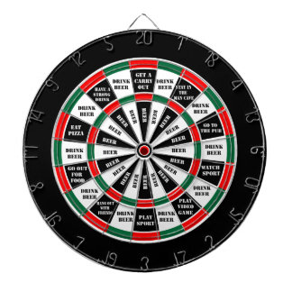 Should I have a beer - decision maker Dartboard With Darts
