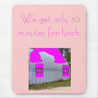 Should I pack a lunchbox to finish lunch on time? Mouse Pad