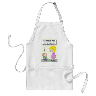Should kid accept candy from federal agents? adult apron
