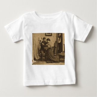 Shoulder Arms Antique Grayscale Vintage Stereoview Baby T-Shirt